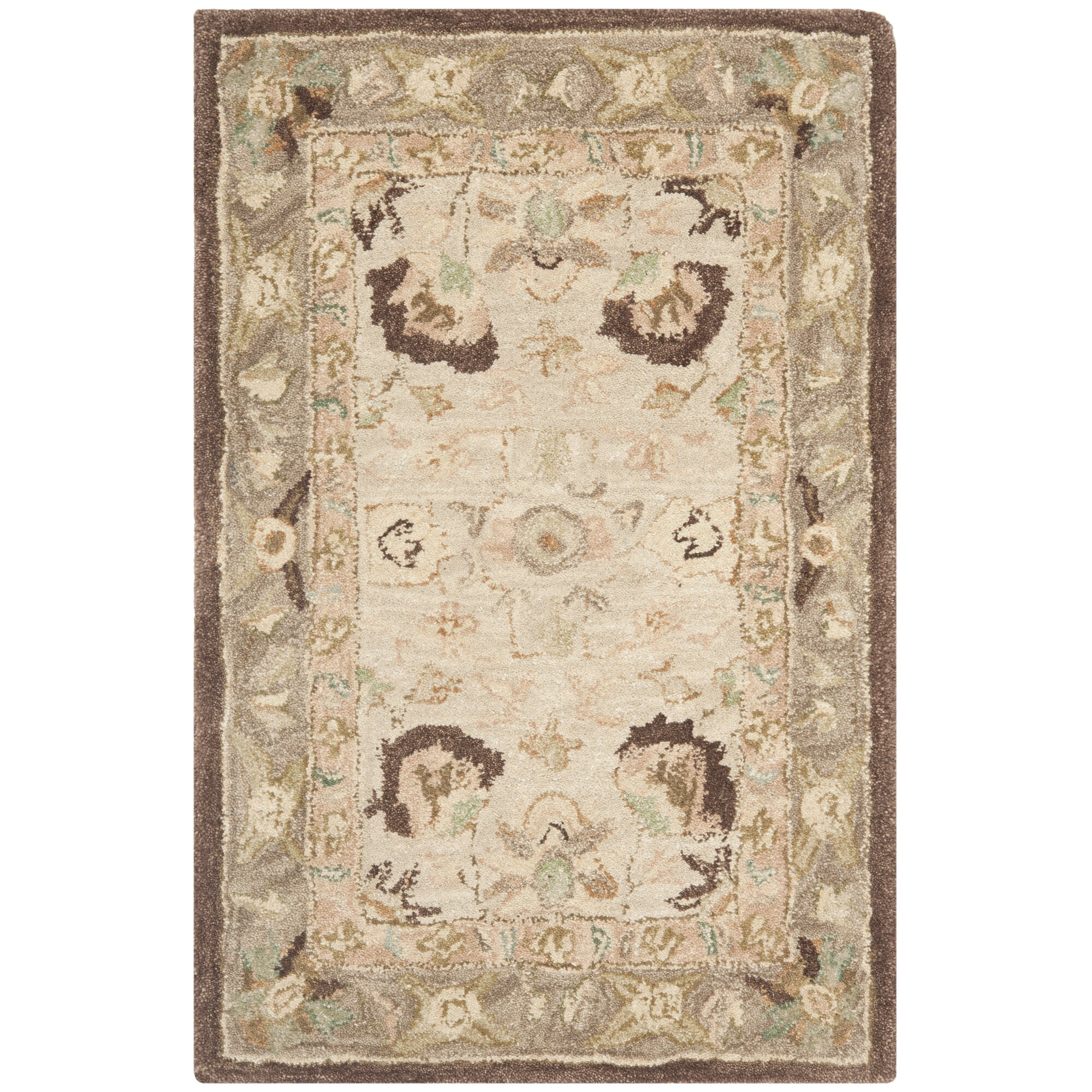 Safavieh Anatolia Ivory Brown Area Rug Amp Reviews Wayfair