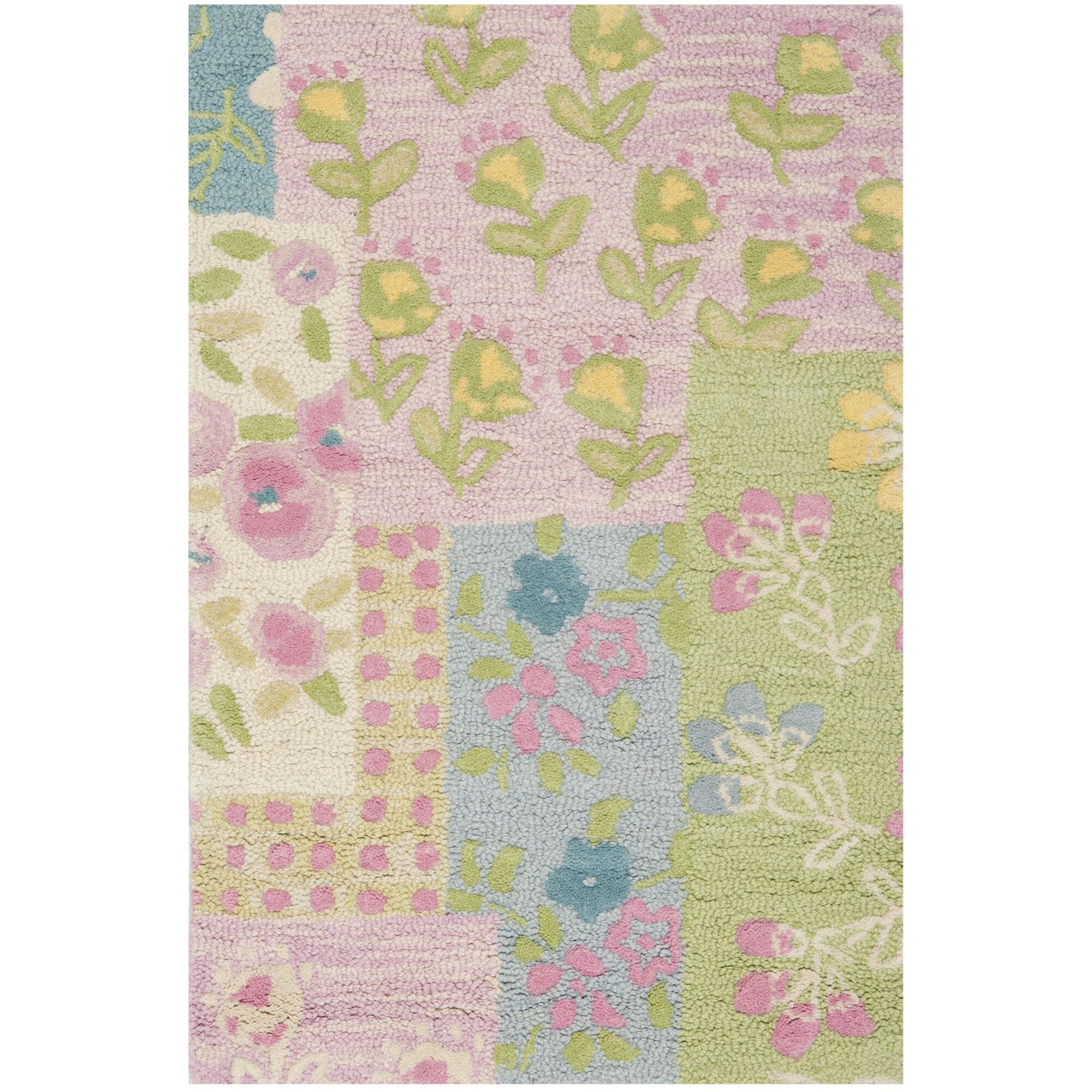 Safavieh Kids Hand-Tufted Pink/Green Area Rug & Reviews