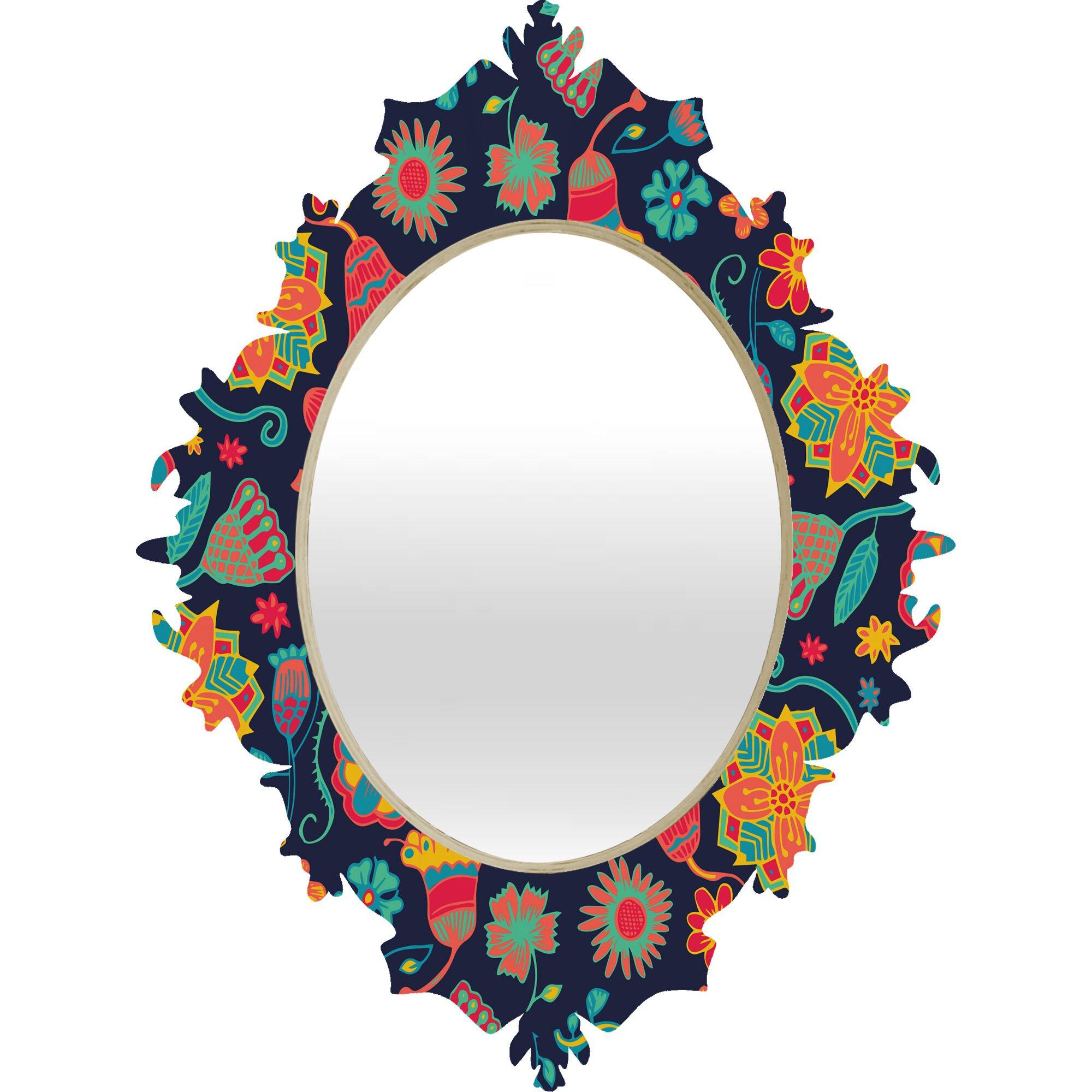 Deny designs arcturus bloom 1 baroque mirror reviews for Baroque mirror canada