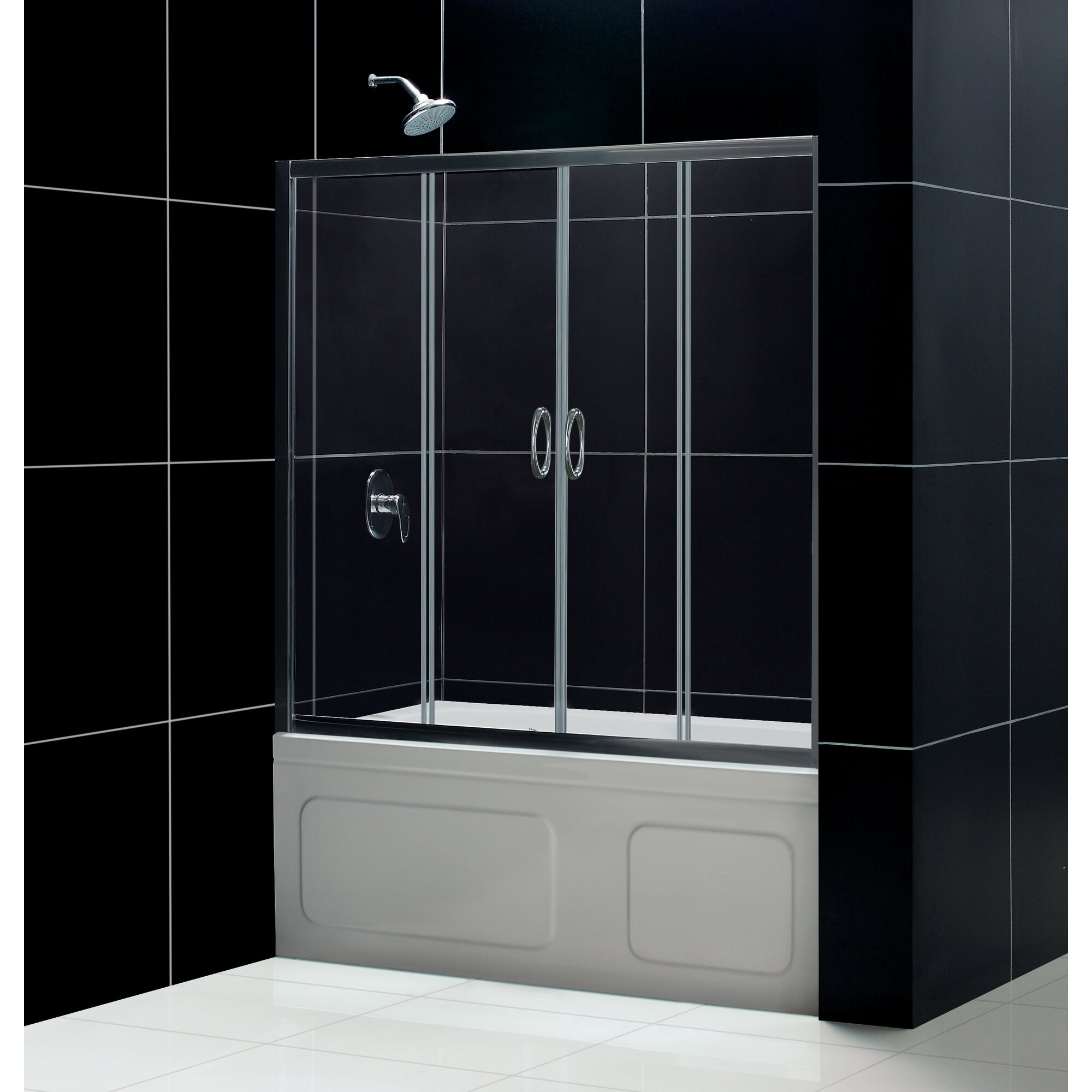 Dreamline Visions 60 Quot X 58 Quot Double Sliding Frameless Tub