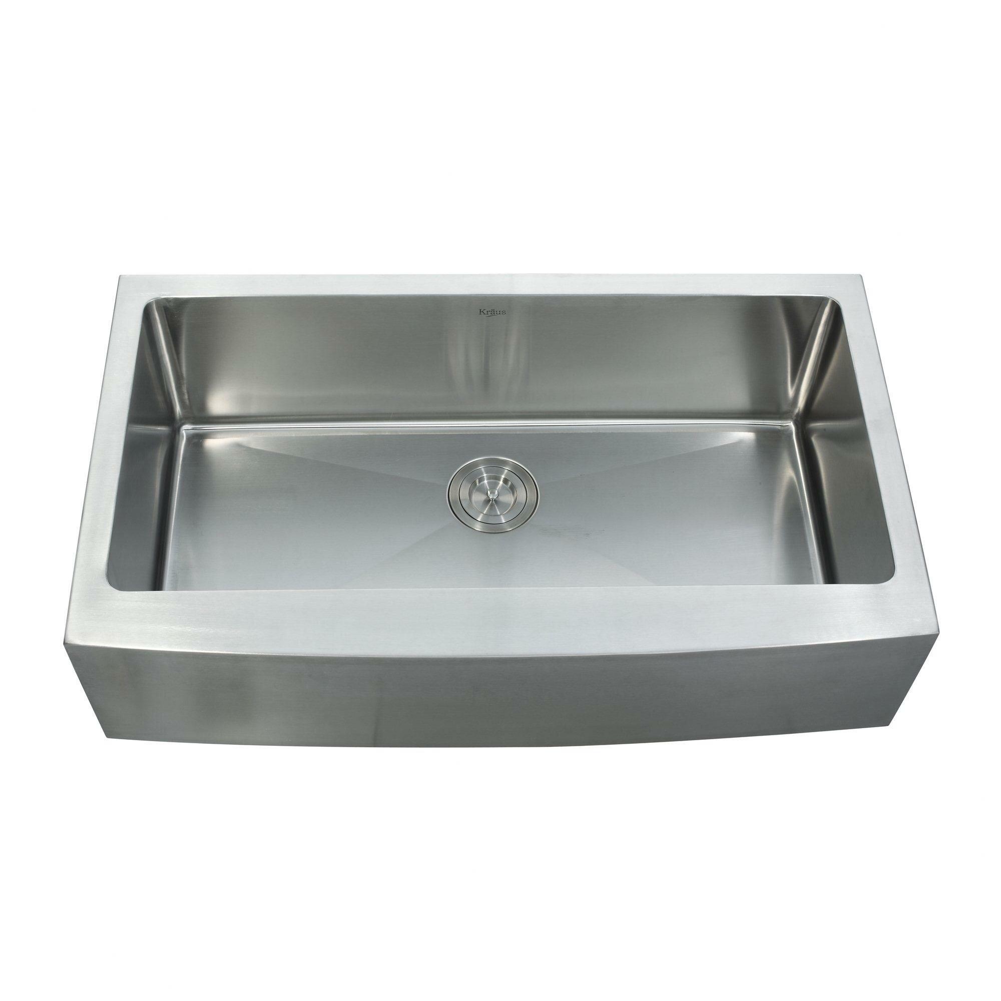 Kraus 35 88 Quot X 20 75 Quot Farmhouse Kitchen Sink With Faucet