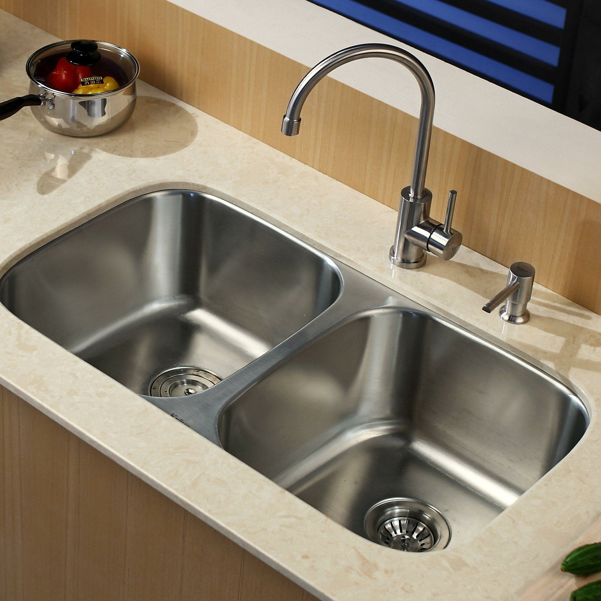 Undermount Kitchen Sinks Double Bowl Undermount Kitchen Sink