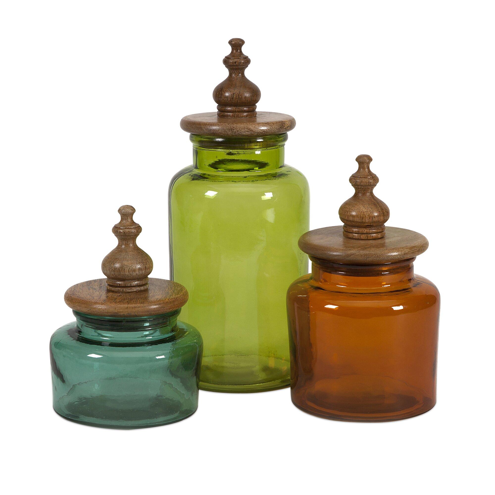 imax saburo 3 piece kitchen canister set reviews wayfair