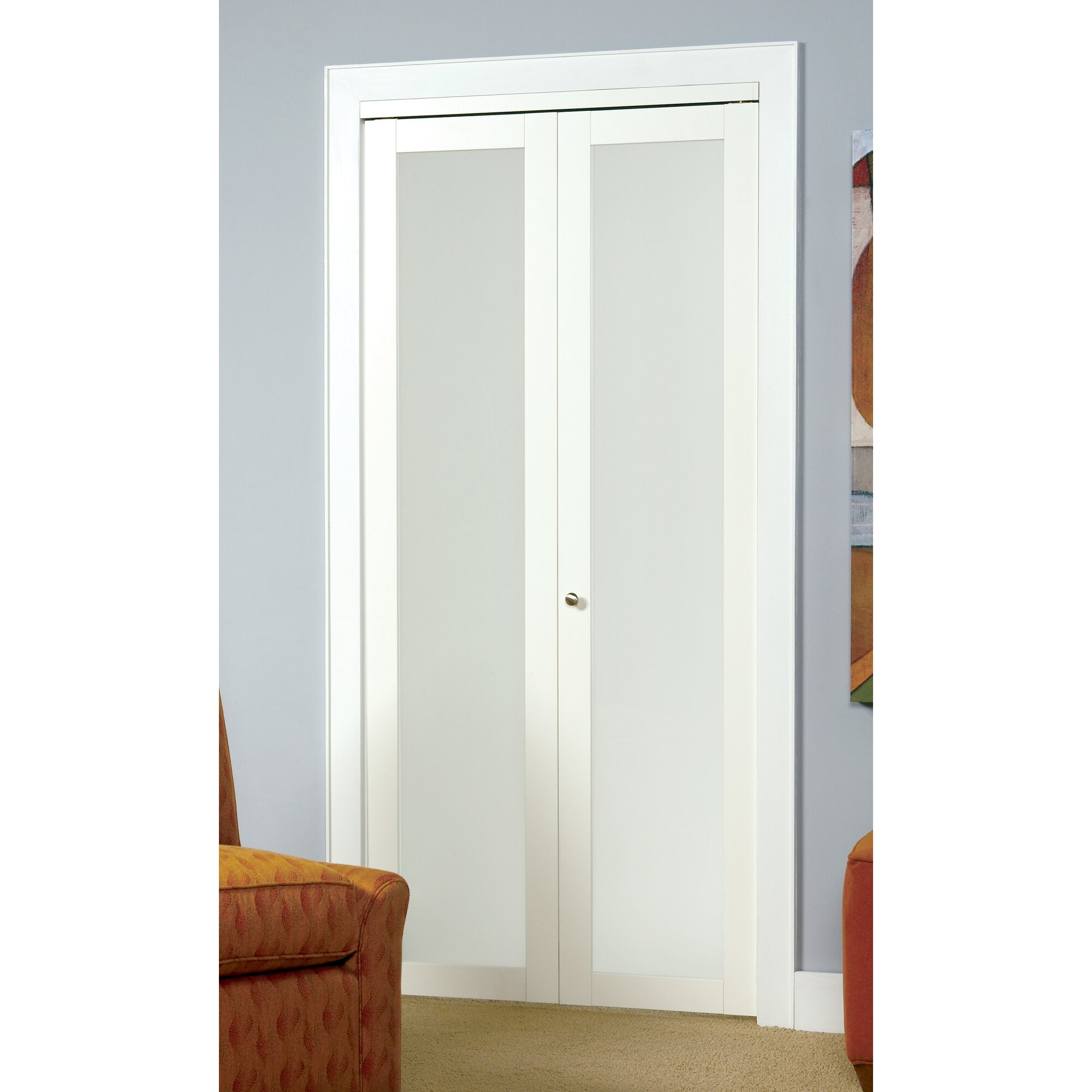 Erias Home Designs Baldarassario Wood 2 Panel Painted Bi Fold Interior Door Reviews Wayfair