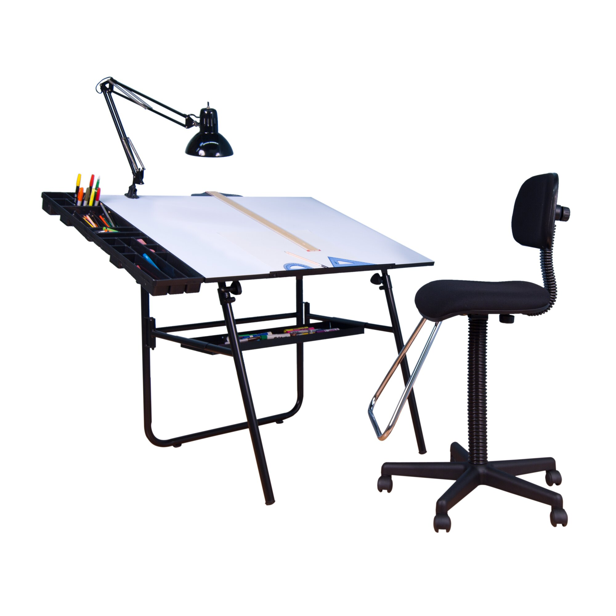 Studio Designs 4 Piece Ultima Drafting Table Set amp Reviews  : 4PieceUltimaDraftingTableSet from www.wayfair.com size 2000 x 2000 jpeg 158kB