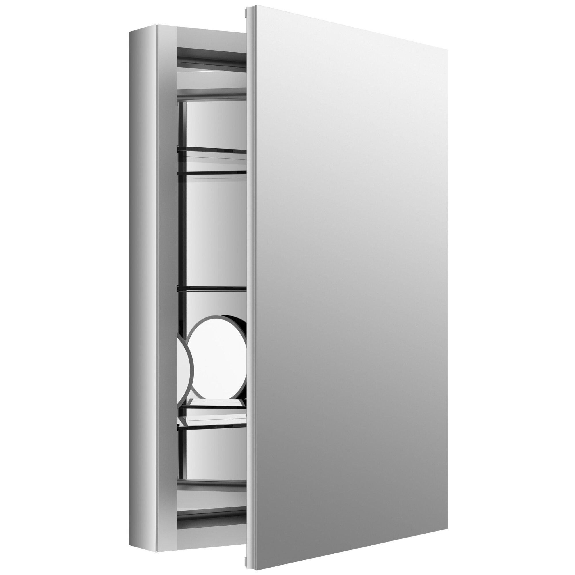 kohler verdera 20 w x 30 h aluminum medicine cabinet. Black Bedroom Furniture Sets. Home Design Ideas