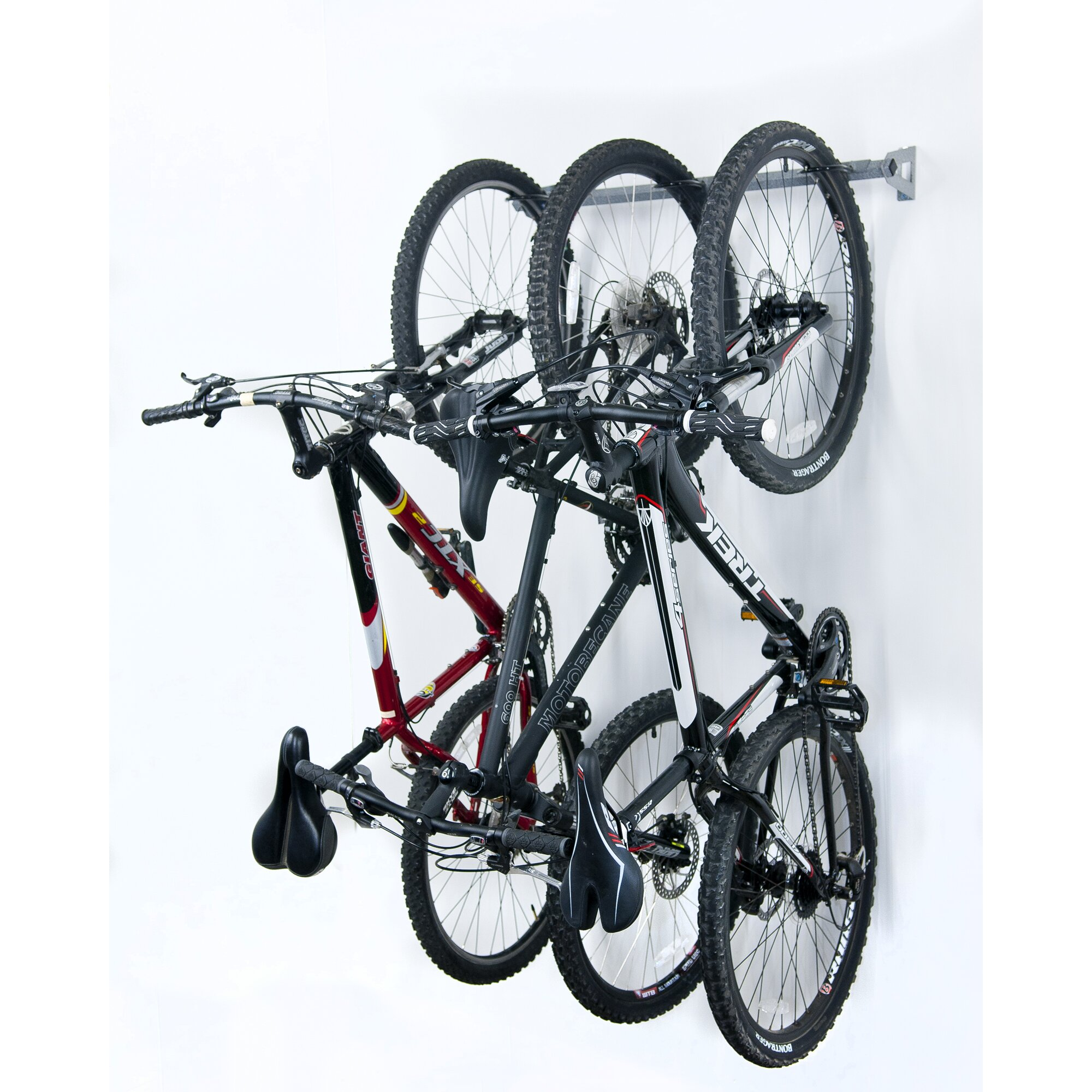 monkey bar 3 bike storage wall mounted bike rack reviews wayfair. Black Bedroom Furniture Sets. Home Design Ideas