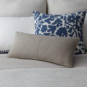 pleated linen decorative pillow