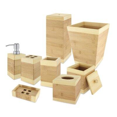 Bamboo 8 Piece Bathroom Accessory Set
