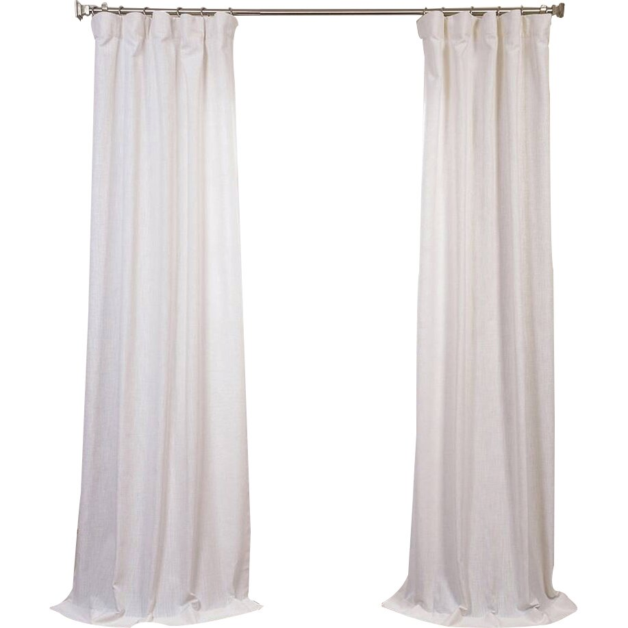Half Price Drapes Solid Semi Sheer Pinch Pleat Single Curtain Panel Reviews Wayfair