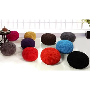 Round Handmade Double Knitted Pouffe