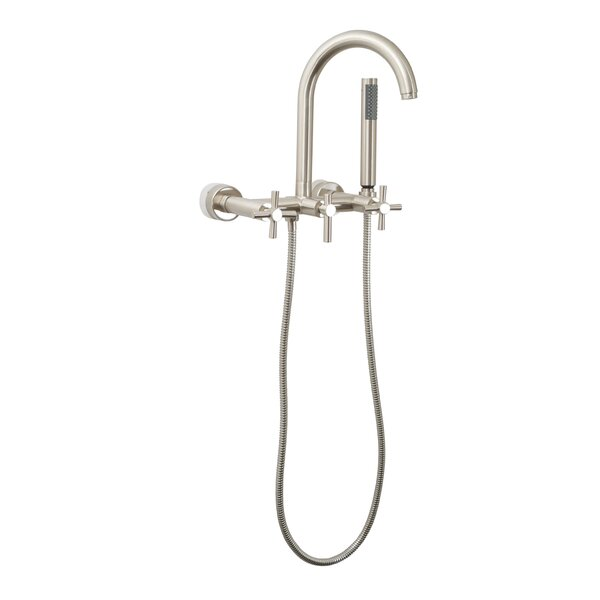 giagni wall mount tub faucet trim metal cross handles with hand shower u0026 reviews wayfair