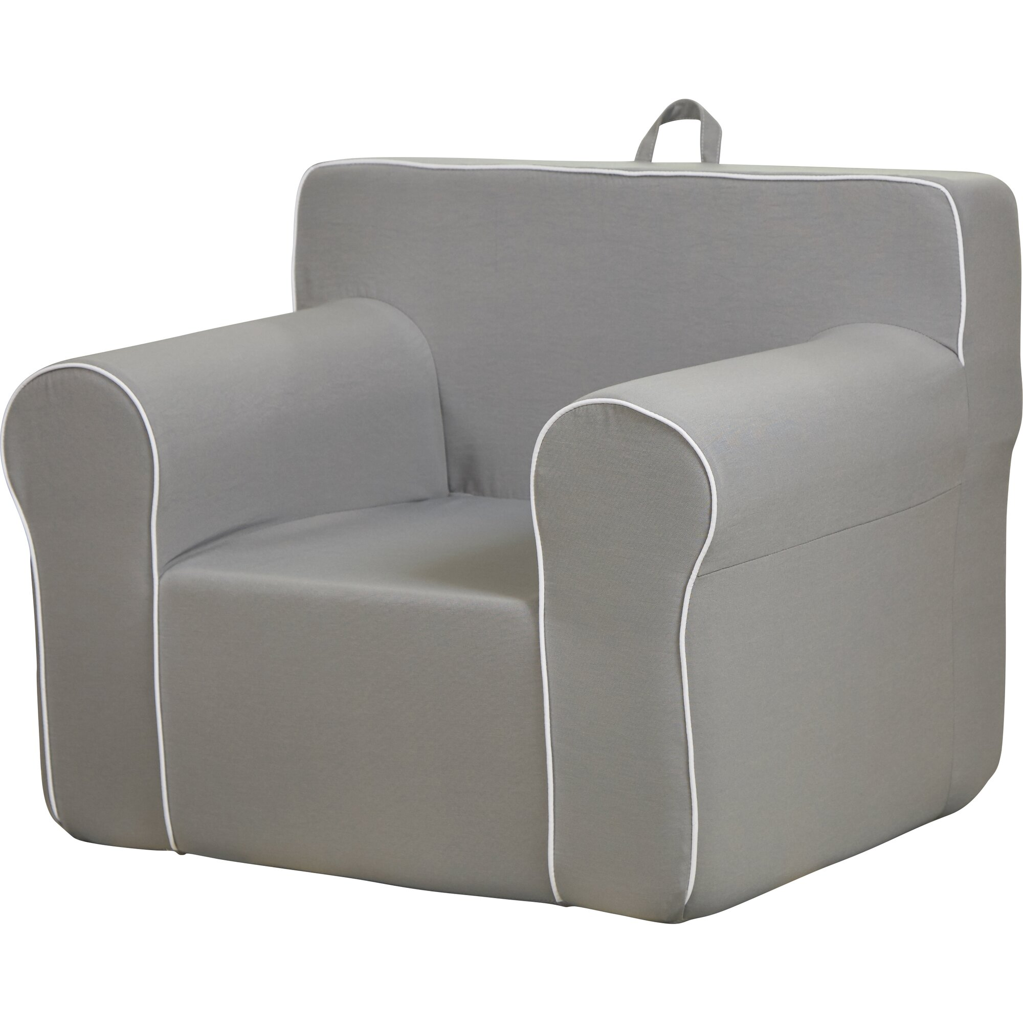 Fun furnishings my comfy chair in light gray reviews for Grey comfy chair