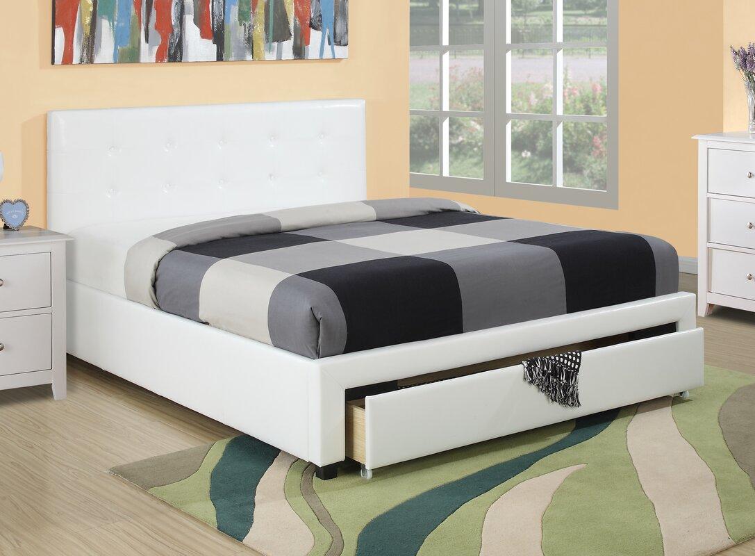 aj homes studio valhalla upholstered platform bed  reviews  wayfair - defaultname
