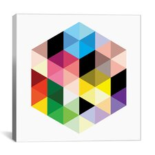Modern Cuboids llI Graphic Art on Wrapped Canvas