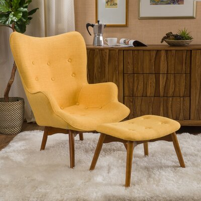 canyon vista midcentury wingback chair set