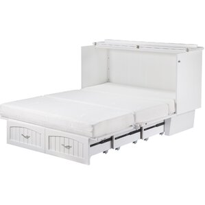 williamston queen storage murphy bed - White Bed Frame With Drawers