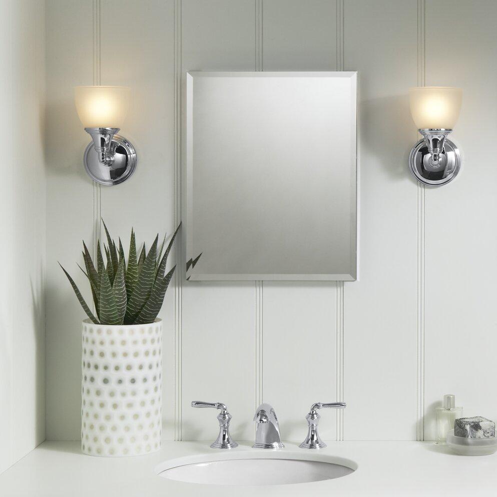 16 Quot X 20 Quot Aluminum Mirrored Medicine Cabinet Amp Reviews