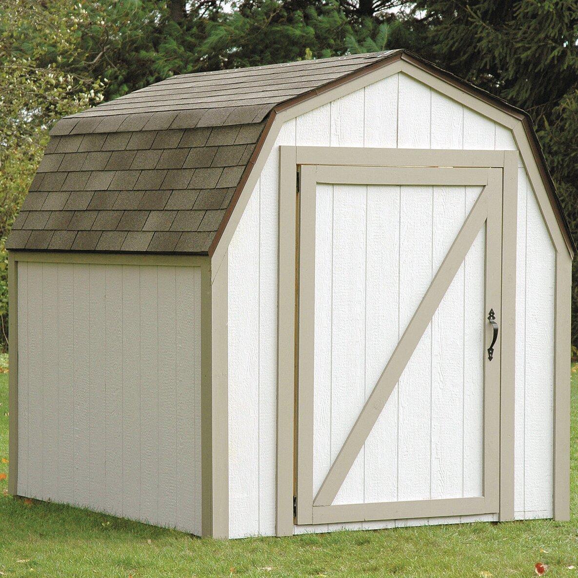 2x4 Basics Barn Roof 7 Ft. W X 8 Ft. D Storage Shed Kit Brackets & Reviews