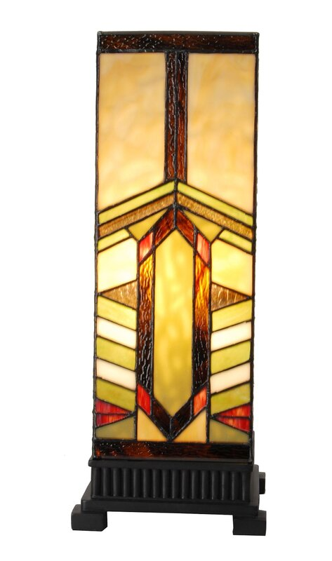 Stone Mountain Pillar Stained Glass Mission Style 17 25 Table Lamp