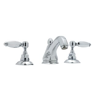 Rohl A1808LH 2 Country Bath Low Lead Widespread Bathroom Faucet With Hex  Metal Lever Handles