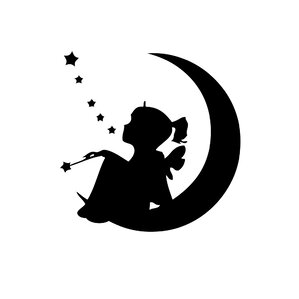 Sitting on the Moon Vinyl Wall Decal