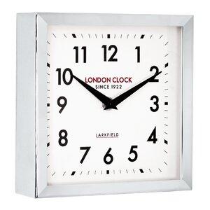 Station Locomotive Square Small Wall Clock