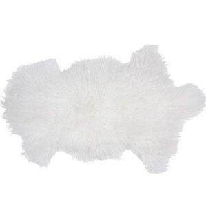 Essentials Fuyu Sheepskin Mongolian White Area Rug