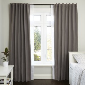 Captivating Twilight Room Darkening Curtain Double Rod