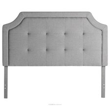 Massey Scoop-Edge Upholstered Panel Headboard