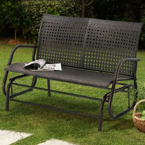 Appleton Wicker Glider Bench