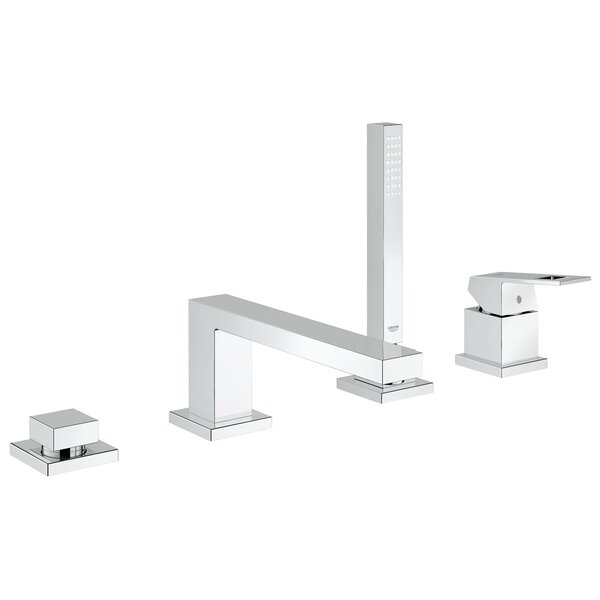 Grohe Eurocube Single Handle Deck Mount Roman Tub Faucet with Hand
