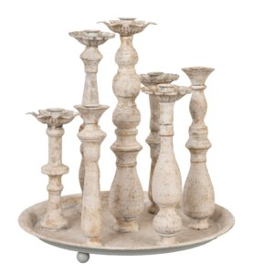 8-Piece Iron Candlestick Set