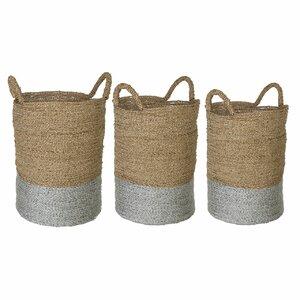 Seagrass 3 Piece Storage Basket Set