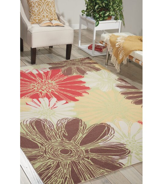 Zipcode Design Avis Brown/Green/Red Indoor/Outdoor Area Rug U0026 Reviews |  Wayfair