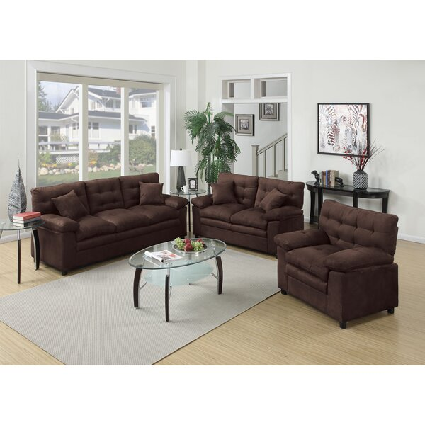 red barrel studio kingsport 3 piece living room set & reviews