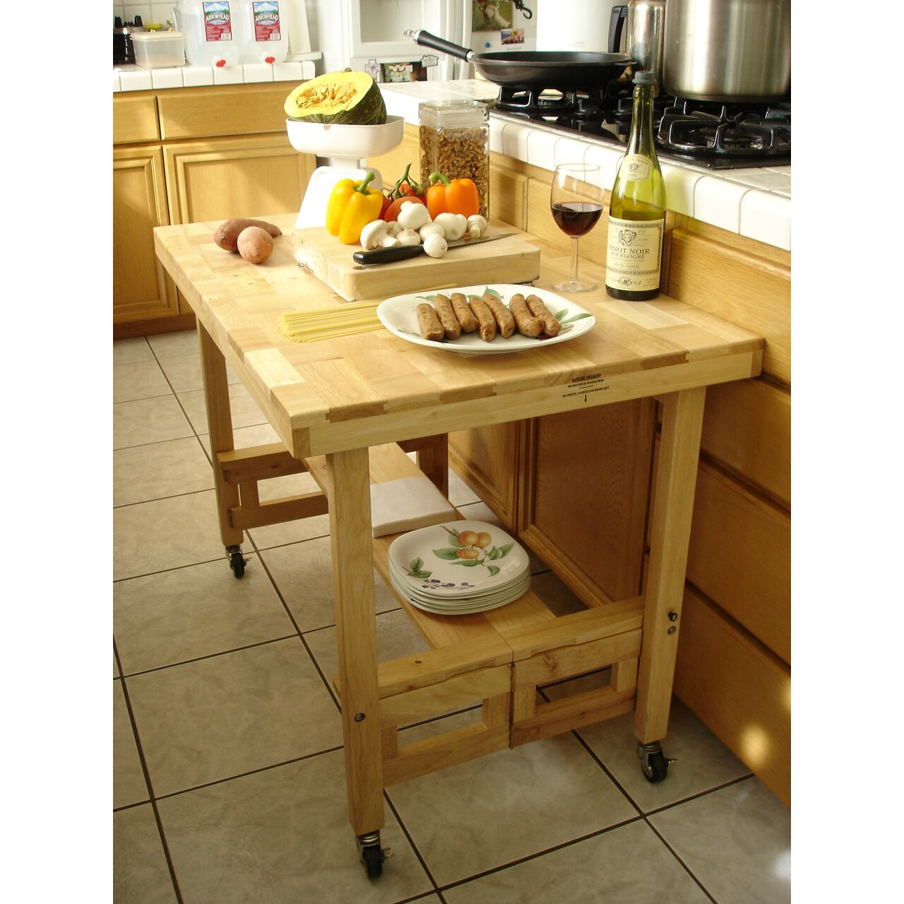 Oasis concepts dining table reviews wayfair - Kitchen island dining table ...