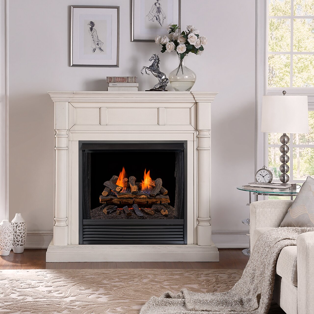 image result for ventless gas fireplace log sets - Ventless Gas Logs