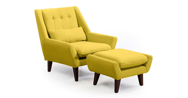 Armless chair and ottoman - Armless Chair And Ottoman 15
