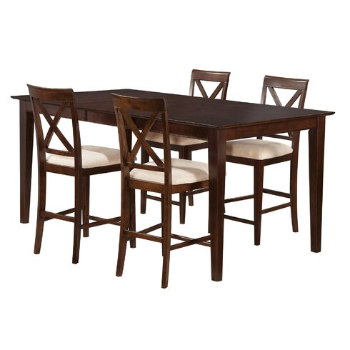 Andover Mills Crestwood 5 Piece Counter Height Dining Set