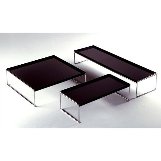 Shop Aira Black Square Coffee Table With Modern White Tray: Trays Table