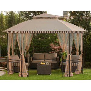 Meijer 10 Ft. W X 12 Ft. D Metal Permanent Gazebo