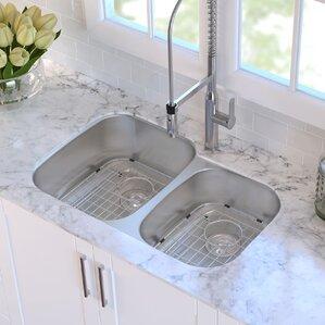 32 x 2063 double basin undermount kitchen sink. beautiful ideas. Home Design Ideas