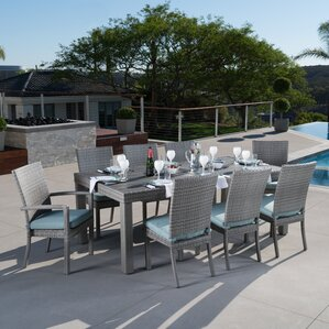 Alfonso 9 Piece Dining Set With Cushion