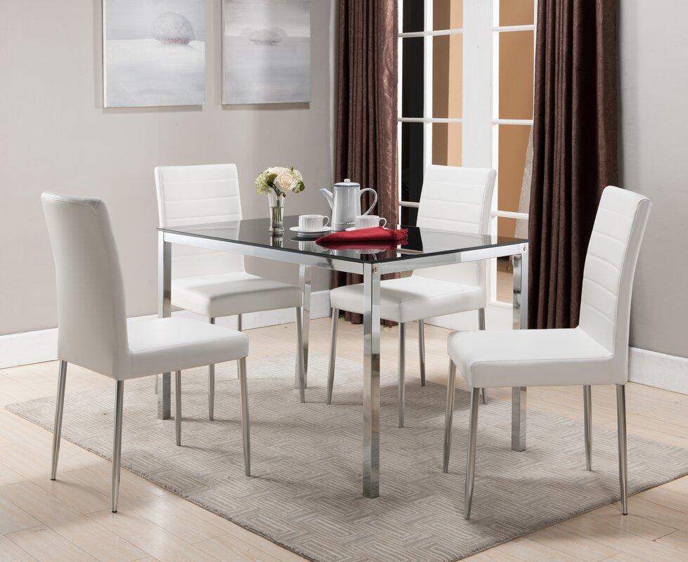 Wade Logan Allston Rectangle Dining Table & Reviews | Wayfair