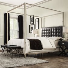modern & contemporary chrome canopy bed   allmodern