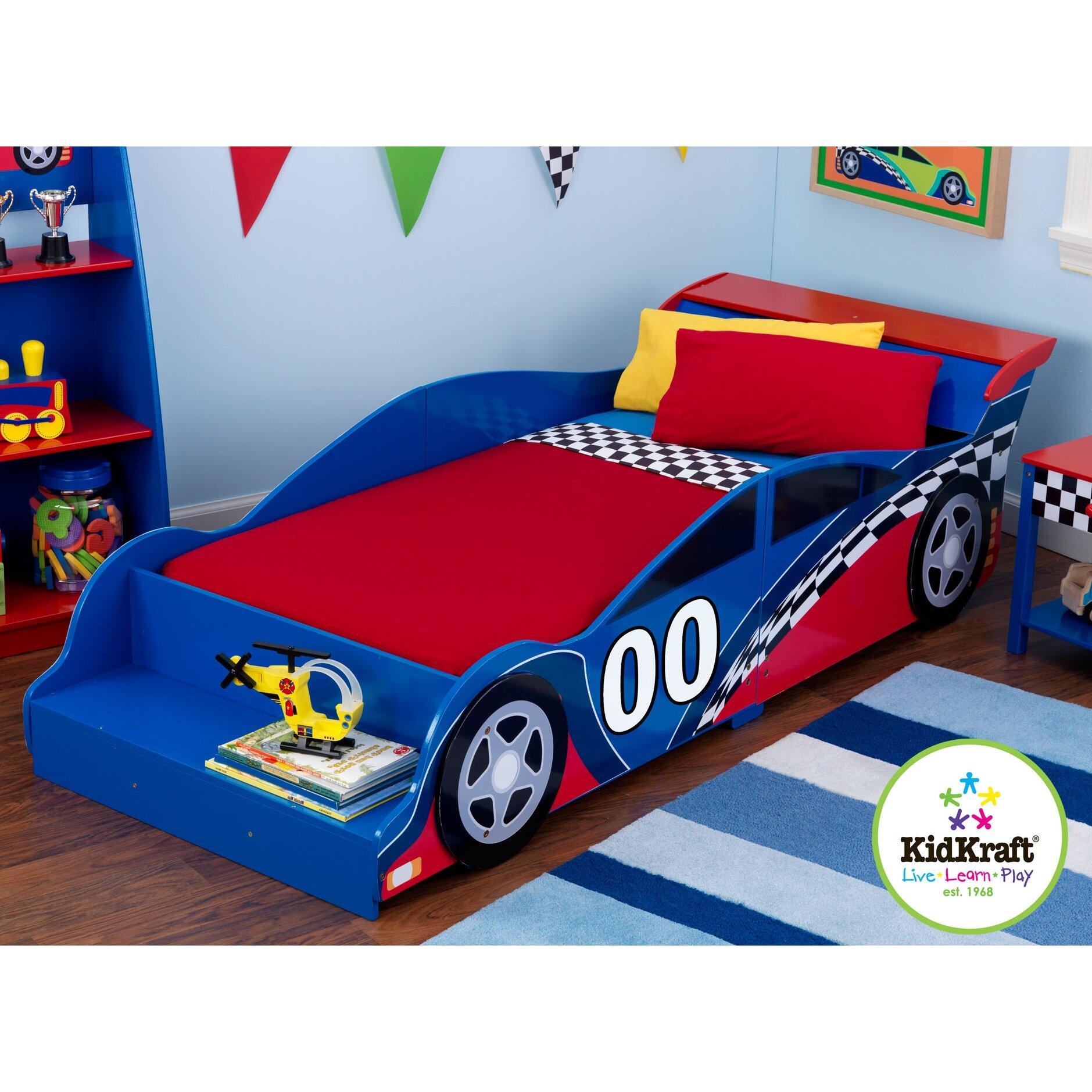 Car beds for boys twin - Racecar Toddler Car Bed