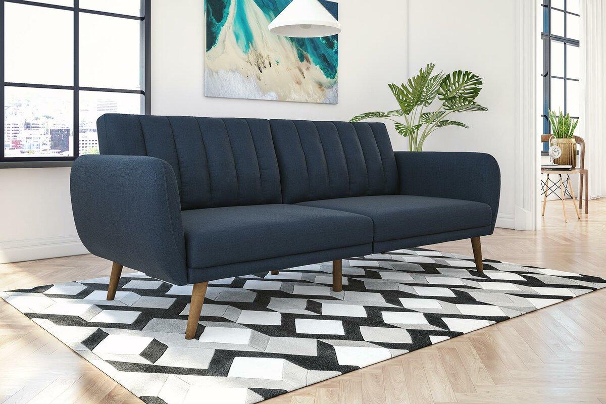 futons you'll love  wayfair - novogratz brittany convertible sofa