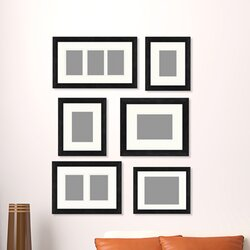 Wall Gallery Frame Set ptm 6 piece gallery wall picture frame set | wayfair.ca