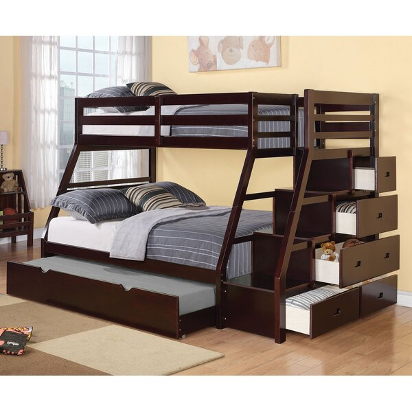 viv + rae reece twin over full bunk bed with storage ladder and